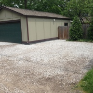 New gravel and leveled in back